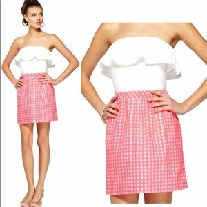 NWT Lilly Pulitzer White & Pink Gingham Dress